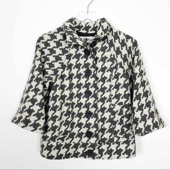 BB Dakota Jackets & Blazers - BB Dakota Houndstooth Button Down Jacket Size S